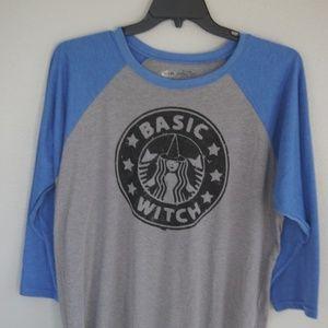 Halloween baseball shirt Basic witch XL NWOT